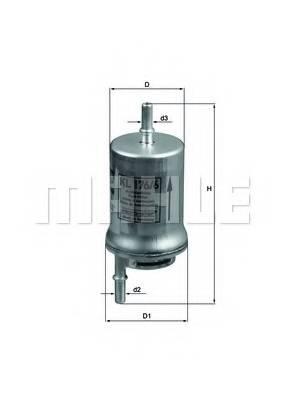 фото: [KL1766D] Knecht (Mahle Filter) Фильтр топливный