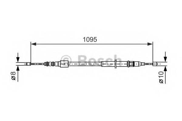 фото: [1987477660] Bosch Тормозной Трос