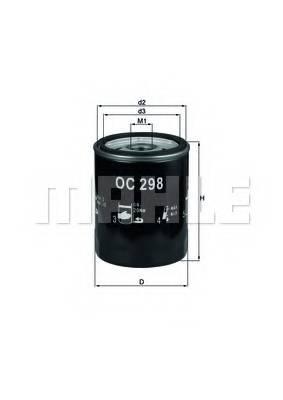 фото: [OC298] Knecht (Mahle Filter) Фильтр масляный