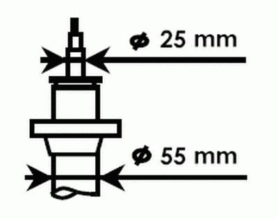 фото: [335808] Kayaba Амортизатор подвески передний левый/правый
