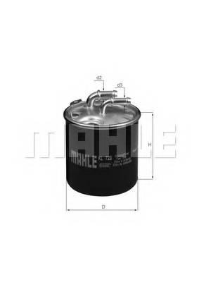 фото: [KL723D] Knecht (Mahle Filter) Фильтр топливный