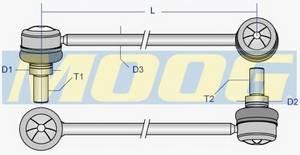 фото: [DELS3896] Moog Стойка стабилизатора переднего, правая