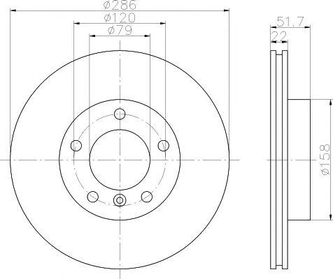 Тормозной диск TEXTAR 92055605