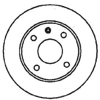 Тормозной диск BENDIX 561373B