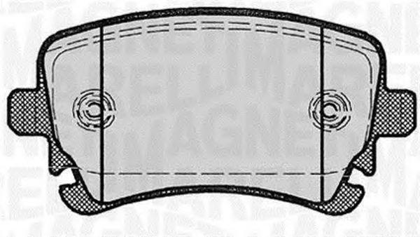 Комплект тормозных колодок, дисковый тормоз MAGNETI MARELLI 363916060602