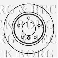Тормозной диск BORG & BECK BBD4953
