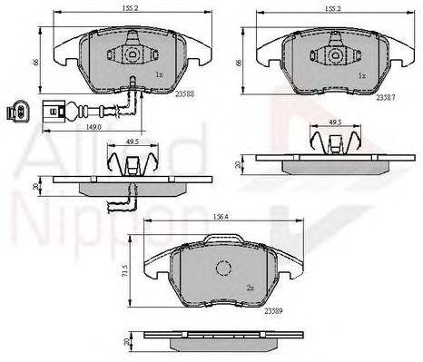 Комплект тормозных колодок, дисковый тормоз COMLINE ADB11224