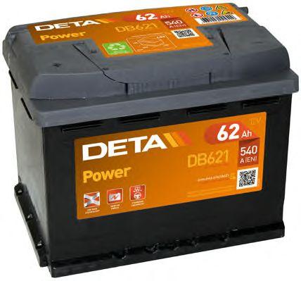 Стартерная аккумуляторная батарея; Стартерная аккумуляторная батарея DETA DB621