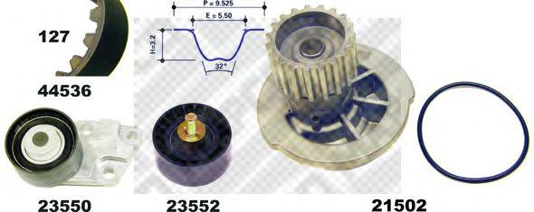 Водяной насос + комплект зубчатого ремня MAPCO 41536/1