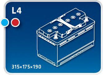 Стартерная аккумуляторная батарея IPSA TME80