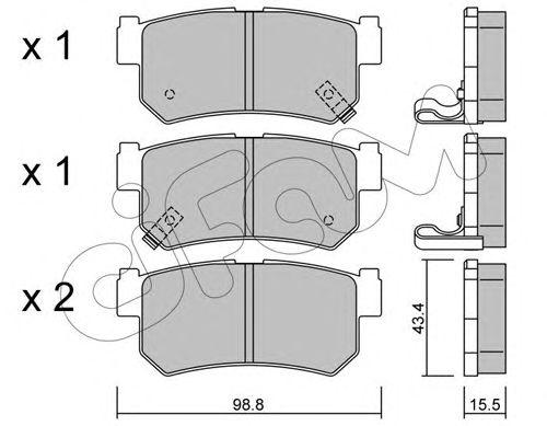 Комплект тормозных колодок, дисковый тормоз CIFAM 822-519-0
