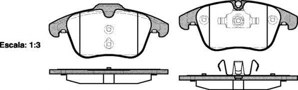 Комплект тормозных колодок, дисковый тормоз KAWE 1219 00