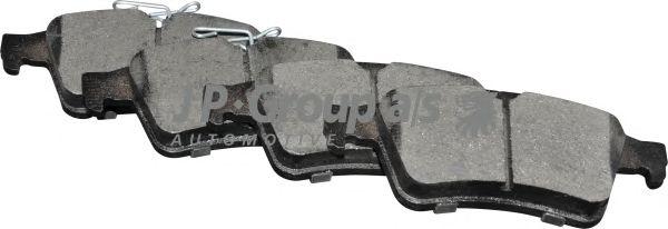 Комплект тормозных колодок, дисковый тормоз JP GROUP 1563701610