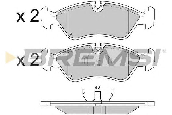 Комплект тормозных колодок, дисковый тормоз BREMSI BP2417