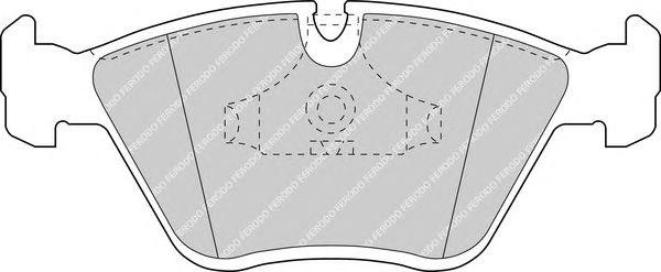 Комплект тормозных колодок, дисковый тормоз FERODO FDB779B