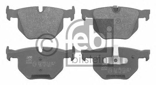 Комплект тормозных колодок, дисковый тормоз FEBI BILSTEIN 16587