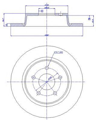 Тормозной диск CAR 142.1652