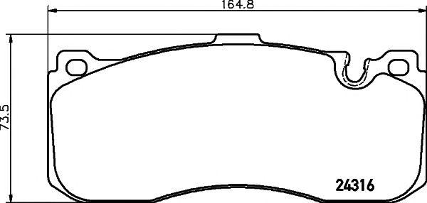 Комплект тормозных колодок, дисковый тормоз PAGID T1784