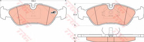 Комплект тормозных колодок, дисковый тормоз TRW GDB951