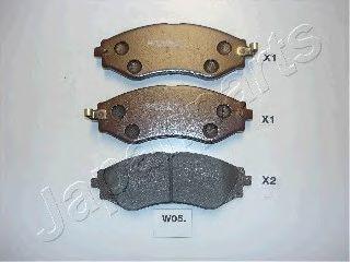 Комплект тормозных колодок, дисковый тормоз JAPANPARTS PA-W05AF