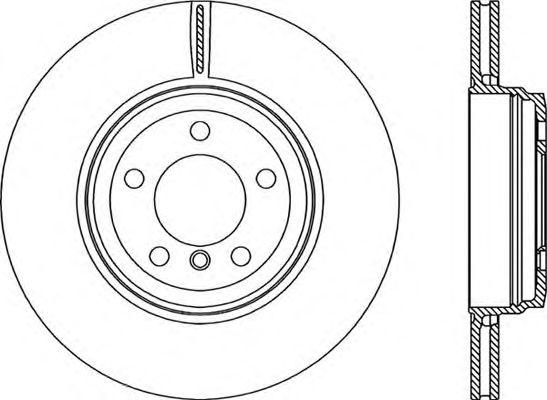 Тормозной диск OPEN PARTS BDR2222.20