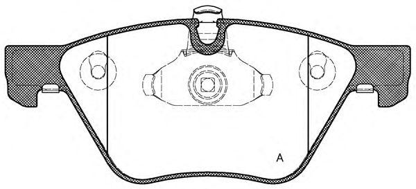 Комплект тормозных колодок, дисковый тормоз OPEN PARTS BPA1052.00