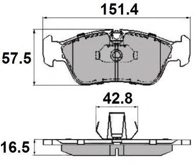 Комплект тормозных колодок, дисковый тормоз NATIONAL NP2050