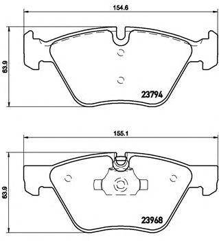 Комплект тормозных колодок, дисковый тормоз BREMBO P 06 036