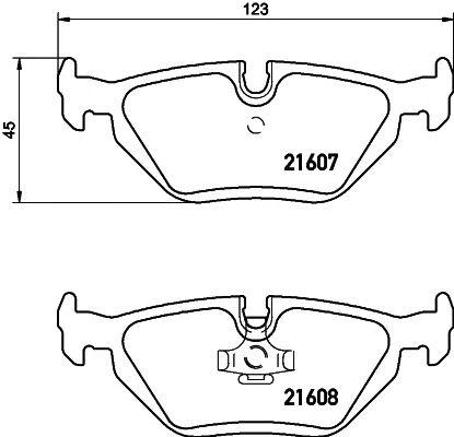 Комплект тормозных колодок, дисковый тормоз HELLA PAGID 8DB 355 007-511