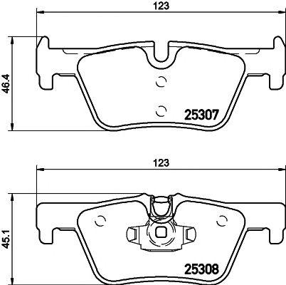 Комплект тормозных колодок, дисковый тормоз TEXTAR 2530701