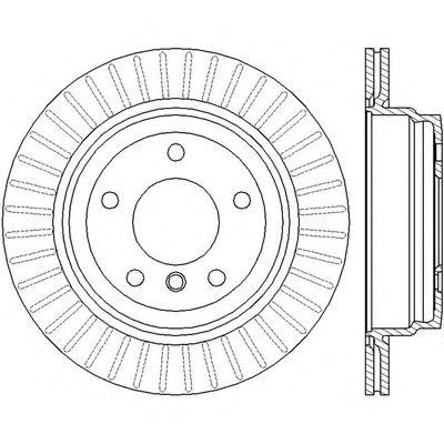 Тормозной диск BENDIX 562442BC