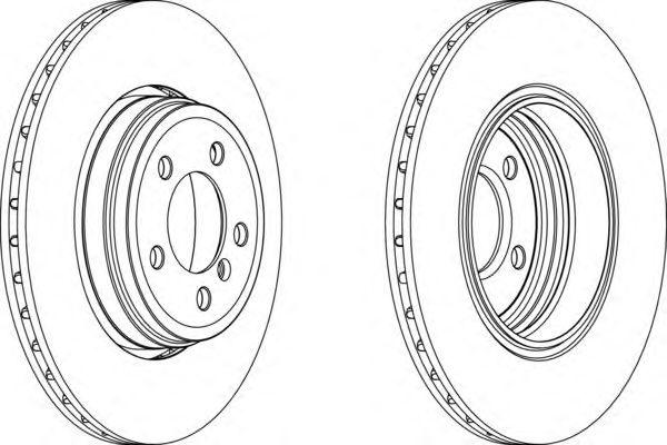 Тормозной диск FERODO DDF1247C