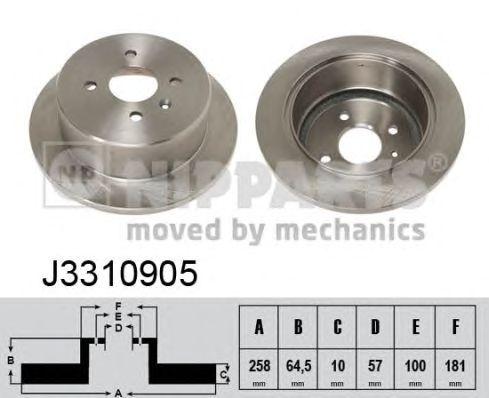 Тормозной диск NIPPARTS J3310905
