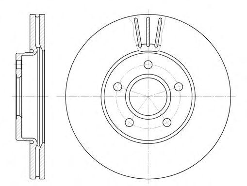 Тормозной диск ROADHOUSE 6710.10