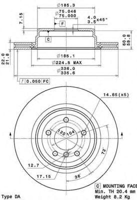 Тормозной диск BRECO BS 8720