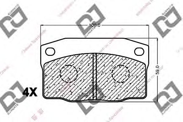 Комплект тормозных колодок, дисковый тормоз DJ PARTS BP1356