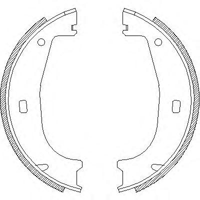 Комплект тормозных колодок, стояночная тормозная система REMSA 4406.00