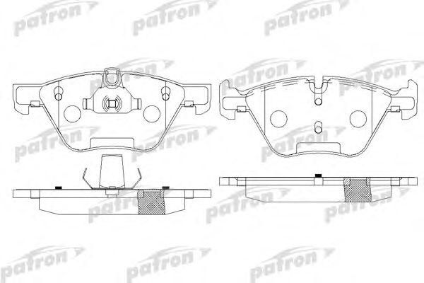 Комплект тормозных колодок, дисковый тормоз PATRON PBP1773
