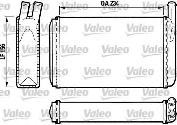 Теплообменник, отопление салона VALEO 812034