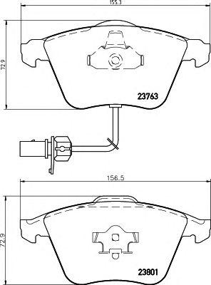 Комплект тормозных колодок, дисковый тормоз HELLA 8DB 355 009-201