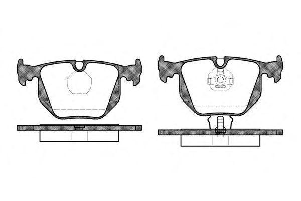 Комплект тормозных колодок, дисковый тормоз WOKING P2813.00