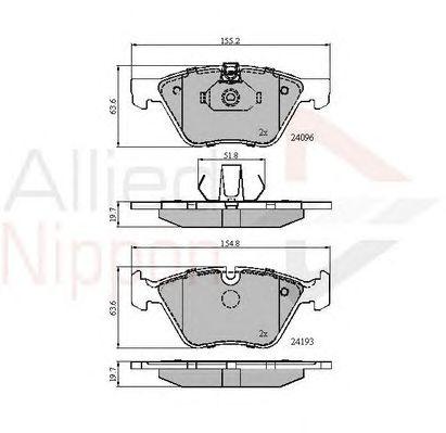 Комплект тормозных колодок, дисковый тормоз COMLINE ADB01300