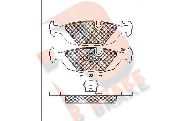 Комплект тормозных колодок, дисковый тормоз R BRAKE RB0422