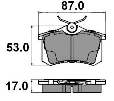 Комплект тормозных колодок, дисковый тормоз NATIONAL NP2136
