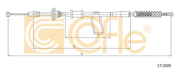 Трос, стояночная тормозная система COFLE 17.3509