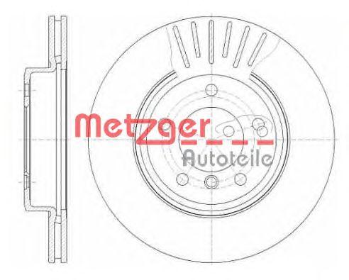 Тормозной диск METZGER 6589.10