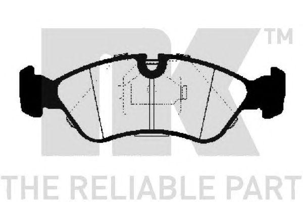 Комплект тормозных колодок, дисковый тормоз NK 223607