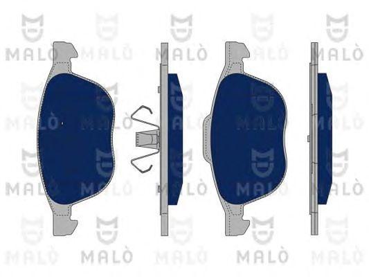 Комплект тормозных колодок, дисковый тормоз MALO 1050113