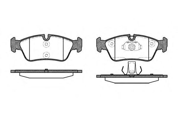 Комплект тормозных колодок, дисковый тормоз WOKING P2843.40