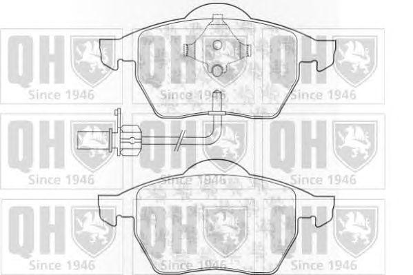 Комплект тормозных колодок, дисковый тормоз QUINTON HAZELL BP1022